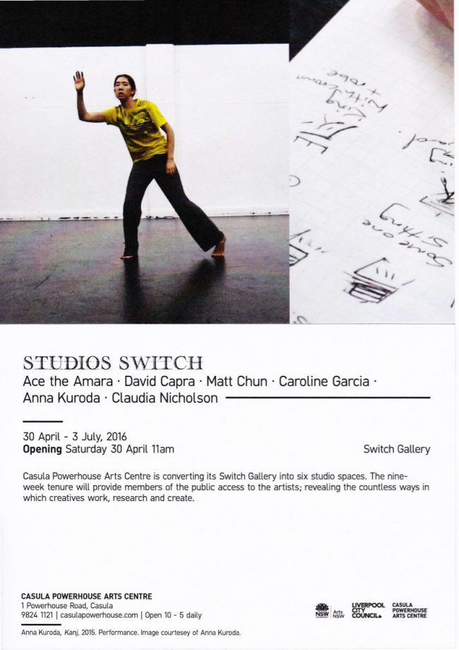 Studio Switch Flyer